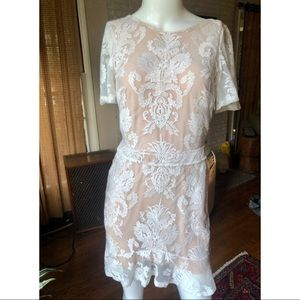 For Love and Lemons offwhite lace s/s mini dress